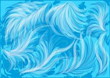 Abstract blue feathers Stock Photos