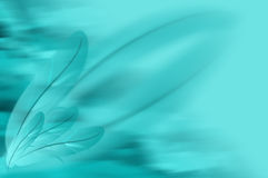 Abstract blue feathers illustration background Stock Images