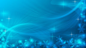 Abstract blue festive winter background. New Year. Abstract winter blue background. Snow and snowflakes on a bright background. Snowstorm and frost. Christmas Stock Photo