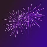 Abstract blue fireworks explosion on transparent background. New Year celebration fireworks. Holiday fireworks on dark. Background Royalty Free Stock Photo