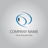 Abstract blue fish logo Stock Photography