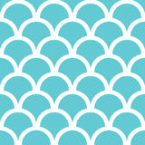 Abstract blue fishscale seamless pattern Royalty Free Stock Photo