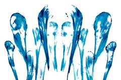 Abstract blue flashes stock photo