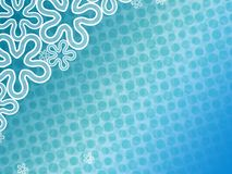 Abstract blue  floral backdround. Abstract background with waves and textures and flowers and dots Stock Image