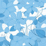 Abstract blue floral background Stock Image