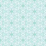 Abstract blue floral pattern. Seamless illustration. Stock Photography