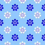 Abstract blue floral pattern. Texture background. Stock Image