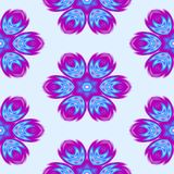 Abstract blue floral pattern. Texture background. Stock Photos