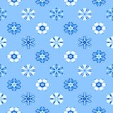 Abstract blue floral pattern. Texture background. Royalty Free Stock Photography