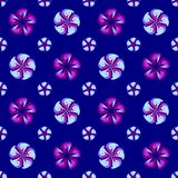 Abstract blue floral pattern. Texture background. Royalty Free Stock Photo