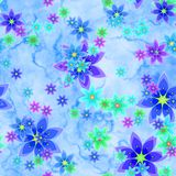 Abstract blue floral pattern. Texture background. Stock Photography