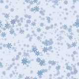 Abstract blue floral pattern. Vector seamless illustration. Royalty Free Stock Photography