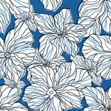 Abstract blue floral seamless pattern Royalty Free Stock Image