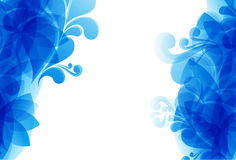 Abstract blue floral smoke background Royalty Free Stock Images