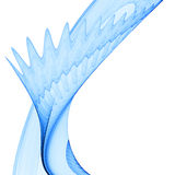 Abstract Blue Flow. High quality 3d image of a abstract blue flow against the white background Stock Photography