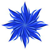 Abstract blue flower royalty free illustration