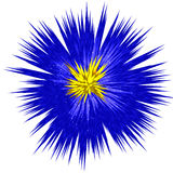 Abstract blue flower Royalty Free Stock Images