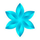 Abstract blue flower design Royalty Free Stock Images