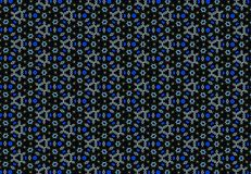 Abstract blue flower pattern. Royalty Free Stock Photography