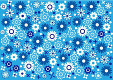 Abstract blue flowers background Royalty Free Stock Images