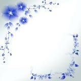 Abstract blue flowers . Abstract blue flowers contains transparencies Stock Photography