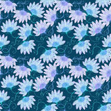 Abstract blue flowers Royalty Free Stock Image