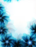 Abstract blue flowers Stock Photography