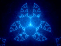 Abstract blue fractal in cyberspace Stock Images