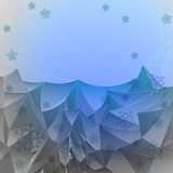 Abstract blue frosty mountains with snow Royalty Free Stock Image