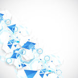 Abstract blue futuristic background for design works. Stock Image