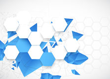Abstract blue futuristic background for design works. Royalty Free Stock Images