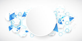 Abstract blue futuristic background for design works. Stock Photography