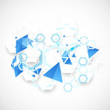Abstract blue futuristic background for design works. Royalty Free Stock Photography