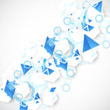Abstract blue futuristic background for design works. Stock Photos
