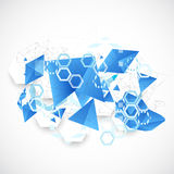Abstract blue futuristic background for design works. Royalty Free Stock Photo