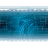 Abstract blue futuristic tech background Royalty Free Stock Photo