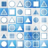 Abstract blue game sign seamless pattern. (eps 10 Stock Photo