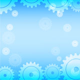 Abstract blue gear technology background Royalty Free Stock Photos