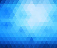 Abstract blue geometric background.  Stock Photography