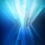 Abstract blue geometric background. 3D perspective Stock Photo