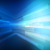 Abstract blue geometric background. 3D perspective Royalty Free Stock Photos