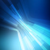 Abstract blue geometric background. 3D perspective Stock Images
