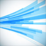 Abstract blue geometric background. 3D perspective Royalty Free Stock Photography
