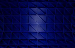 Abstract blue geometric background. 3 D render. Ing Stock Photo