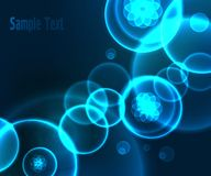 Abstract blue geometric background design Stock Photography