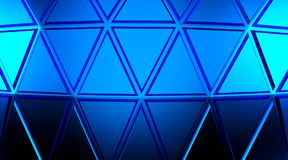 Abstract blue geometric background. Gold texture with shadow. 3D render. Ing Royalty Free Stock Photography