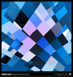 Abstract blue geometric background Royalty Free Stock Images