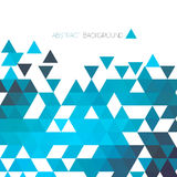 Abstract blue geometric background with triangle Royalty Free Stock Photography