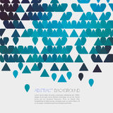 Abstract blue geometric background with triangle. Vector Royalty Free Stock Images