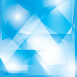 Abstract blue vector geometric background Royalty Free Stock Photos
